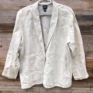 Eileen Fisher | 100% Irish Linen Jacket Large